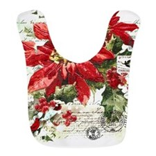 Cute Poinsettia Bib