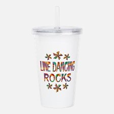 Line Dancing Rocks Acrylic Double-wall Tumbler