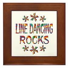 Line Dancing Rocks Framed Tile
