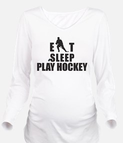 hockey46.png Long Sleeve Maternity T-Shirt