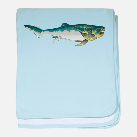 Dunkleosteus fish baby blanket