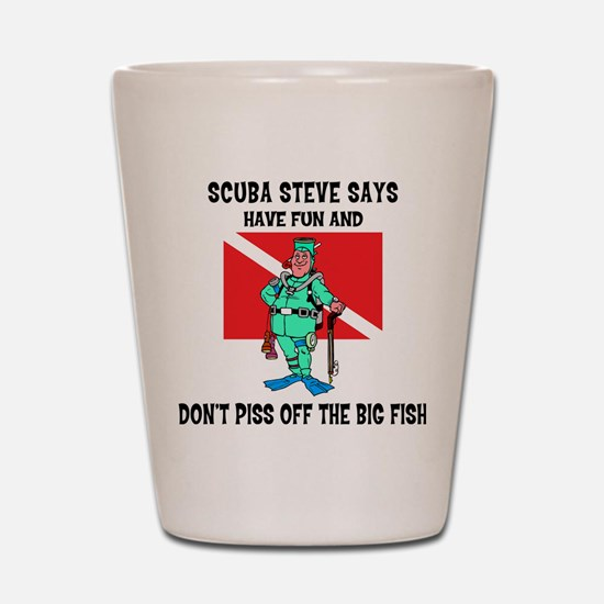scuba67.png Shot Glass