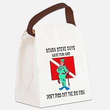 scuba67.png Canvas Lunch Bag