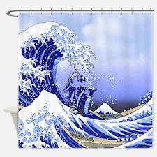 Monogram W Surf's Up! Shower Curtain