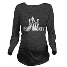 hockey46white.png Long Sleeve Maternity T-Shirt