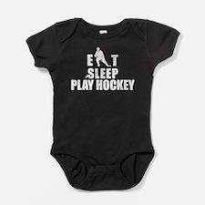 hockey46white.png Baby Bodysuit