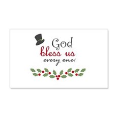 God bless us every one! Wall Decal