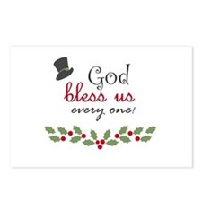 God bless us every one! Postcards (Package of 8)