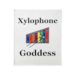 Xylophone Goddess Throw Blanket