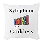 Xylophone Goddess Woven Throw Pillow