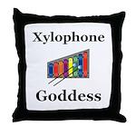 Xylophone Goddess Throw Pillow