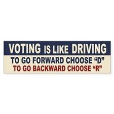 Voting Like Driving Bumper Sticker