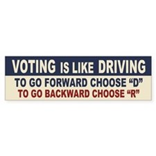 Voting Like Driving Car Sticker