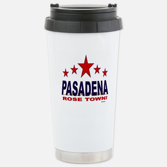 Pasadena Rose Town Stainless Steel Travel Mug