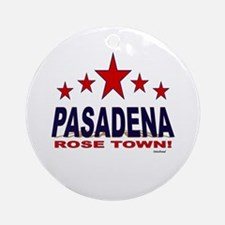 Pasadena Rose Town Ornament (Round)