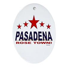Pasadena Rose Town Ornament (Oval)