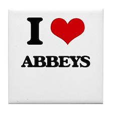 I Love Abbeys Tile Coaster