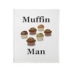 Muffin Man Throw Blanket