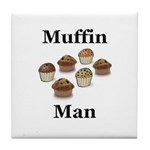 Muffin Man Tile Coaster