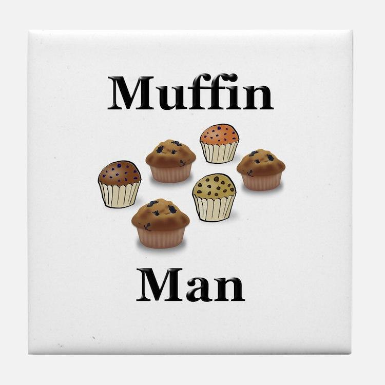 Muffin Man Tile Coaster