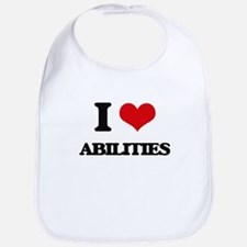 I Love Abilities Bib