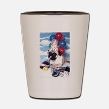 Birthday Pug Shot Glass