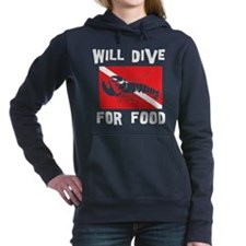 scuba11black.png Women's Hooded Sweatshirt