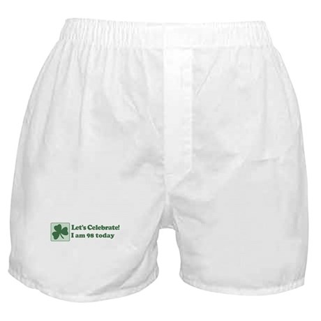 Lets Celebrate I am 98 Boxer Shorts