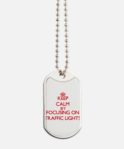 Keep Calm by focusing on Traffic Lights Dog Tags