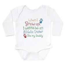 Future Athletic Traine Long Sleeve Infant Bodysuit