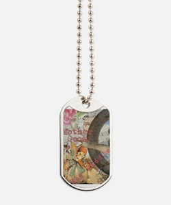 Vintage Mother Goose Collage Pretty Fairy tale Dog