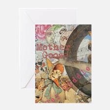 Vintage Mother Goose Collage Pretty Fairy tale Gre