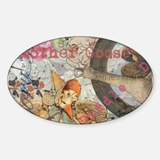 Vintage Mother Goose Collage Pretty Fairy tale Sti