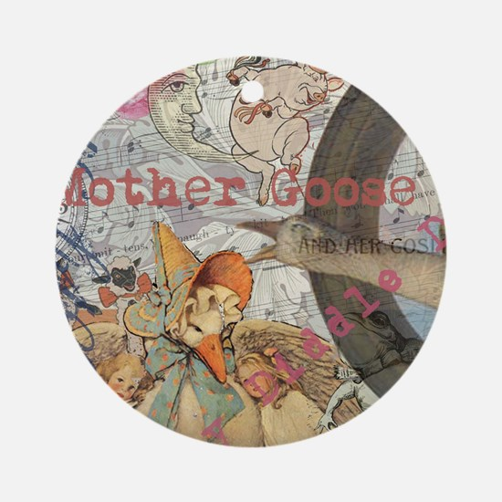 Vintage Mother Goose Collage Pretty Fairy tale Orn
