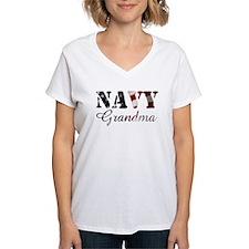 Navy Grandma Flag Shirt