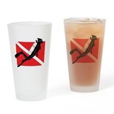 scuba55.png Drinking Glass