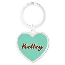 Kelley Aqua Heart Keychain