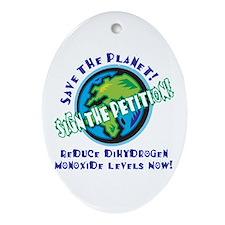 Dihydrogen Monoxide Oval Ornament