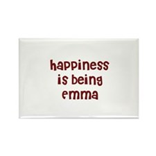 happiness is being Emma Rectangle Magnet