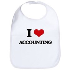 I Love Accounting Bib