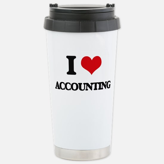 I Love Accounting Stainless Steel Travel Mug