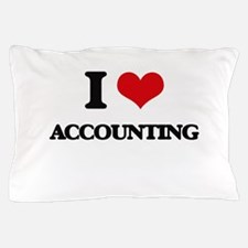 I Love Accounting Pillow Case