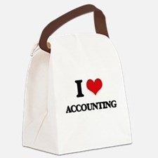I Love Accounting Canvas Lunch Bag