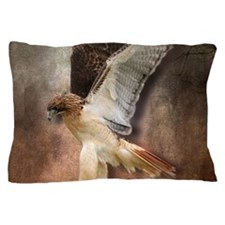 Red Tail Hawk in Vintage Light Pillow Case