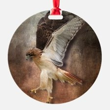 Red Tail Hawk in Vintage Light Ornament