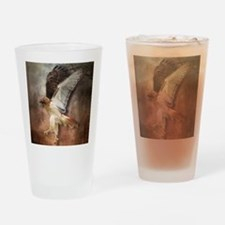 Red Tail Hawk in Vintage Light Drinking Glass