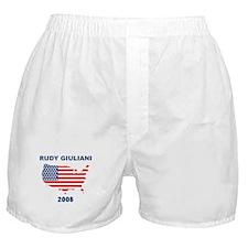 RUDY GIULIANI 2008 (US Flag) Boxer Shorts