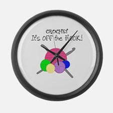 Crochet It's off the HOOK Large Wall Clock
