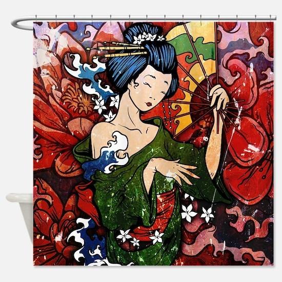 Geisha performer. Shower Curtain