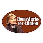 Homestucks For Clinton Oval Sticker